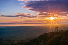 Resplandor solar sobre San Francisco Bay según lo visto de cumbre del Mt Diablo Fotos de archivo libres de regalías