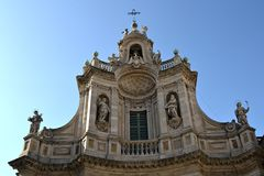 Resplendent Baroque church, Catania Royalty Free Stock Images