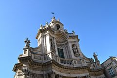 Resplendent Baroque church, Catania Royalty Free Stock Photos