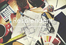 Resplendent Brightly Colorful Multicolored Concept.  Royalty Free Stock Images