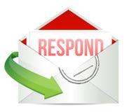 Respond envelope. Illustration design over a white background royalty free illustration