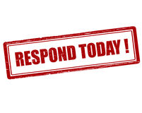 Respond today Royalty Free Stock Images