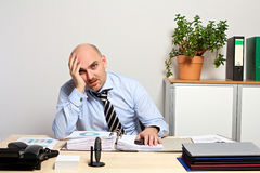 Responsabile Burnout Fotografia Stock Libera da Diritti