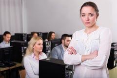 Responsabile di dipartimento infelice di vendite dispiaciuto Immagine Stock