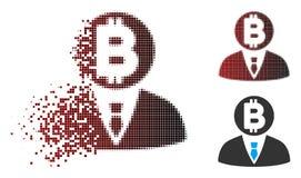 Responsabile di semitono spezzettato Icon di Bitcoin del pixel Immagini Stock