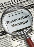 Responsabile Hiring Now di prenotazione 3d Fotografia Stock