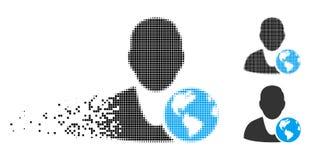Responsabile internazionale di semitono dissipato Icon di Pixelated royalty illustrazione gratis
