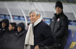 Responsabile Mircea Lucescu di FC Shakhtar Donetsk Immagine Stock Libera da Diritti