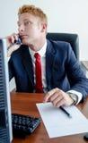 Responsabile moderno Businessman in vestito convenzionale - portr Immagini Stock