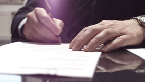 Responsabile Signs Contract stock footage