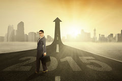 Responsabile sulla strada verso futuro 2015 Immagini Stock