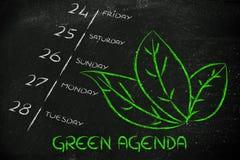 Responsabilidad social corporativa, el orden del día verde de la compañía Imagen de archivo libre de regalías