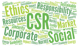 Responsabilidade social empresarial do CSR ilustração stock