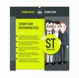Responsabilidades da equipe do scrum imagens de stock royalty free