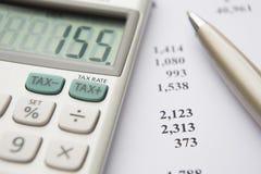 Responsabilità fiscale calcolatrice Immagini Stock Libere da Diritti