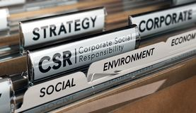 Responsabilità sociale dell'impresa, strategia del CSR Fotografie Stock