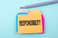 Responsabilité, concept d'affaires Image libre de droits