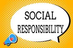 Responsabilité sociale des textes d'écriture de Word Concept d'affaires pour l'obligation au profit de l'équilibre de société dan illustration de vecteur