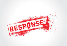 Response grunge text Royalty Free Stock Image