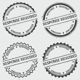 Response required insignia stamp isolated on. Royalty Free Stock Photos