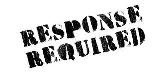 Response Required rubber stamp Stock Photography