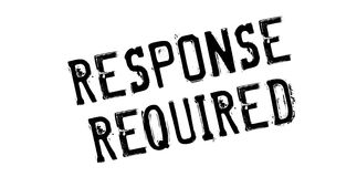 Response Required rubber stamp Royalty Free Stock Image