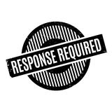 Response Required rubber stamp Royalty Free Stock Photos