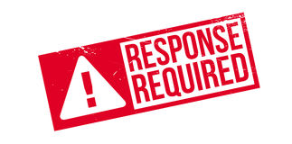 Response Required rubber stamp Stock Images
