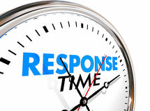 Response Time Clock Fast Speed Service Attention Royalty Free Stock Image