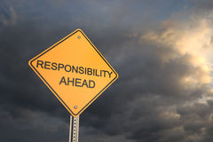 Responsibility Ahead Royalty Free Stock Image