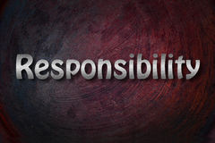 Responsibility Concept. Text backgroud business Stock Images