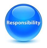 Responsibility glassy cyan blue round button Stock Photos