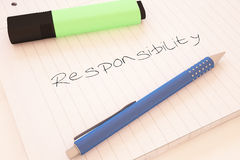 Responsibility Royalty Free Stock Photography