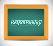 Responsibility message illustration design Royalty Free Stock Photography