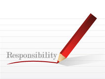 Responsibility message illustration design Stock Photos