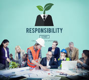 Responsibility Roles Duty Task Obligation Responsible Concept Stock Image