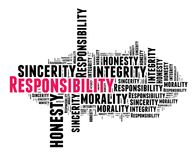 Responsibility in word cloud Stock Photo