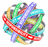 Responsibility Word Delegating Passing Off Jobs Tasks Duties to Stock Photography