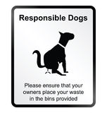 Responsible dogs Information Sign Stock Photography
