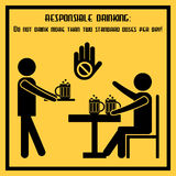 Responsible drinking social placard Stock Image