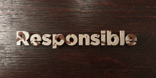 Responsible - grungy wooden headline on Maple  - 3D rendered royalty free stock image. This image can be used for an online website banner ad or a print Royalty Free Stock Photo