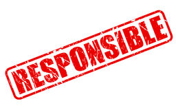Responsible red stamp text Stock Photos