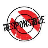 Responsible rubber stamp Stock Photos