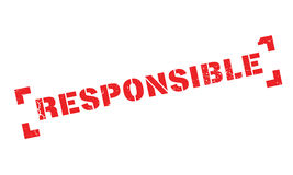Responsible rubber stamp Stock Image