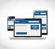 Responsive business web site platforms. Illustration design over a white background Royalty Free Stock Image