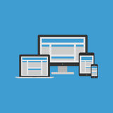 Responsive Design Concept royalty free illustration