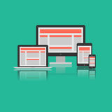 Responsive Design Concept. Vector Royalty Free Stock Image