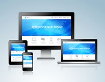 Responsive design concept Stock Photography