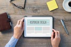 Responsive design on digital tablet Stock Photography