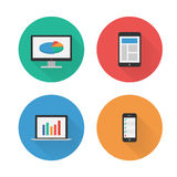 Responsive Design. Flat Icons Set. Vector Royalty Free Stock Photo